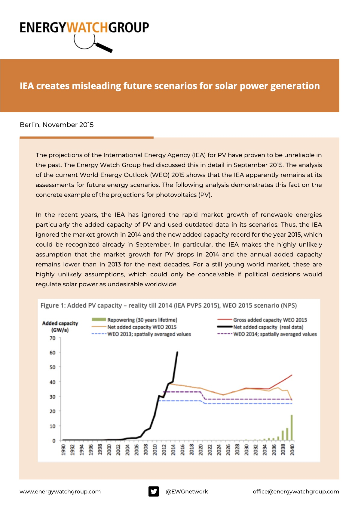 IEA creates misleading future scenarios for solar power generation