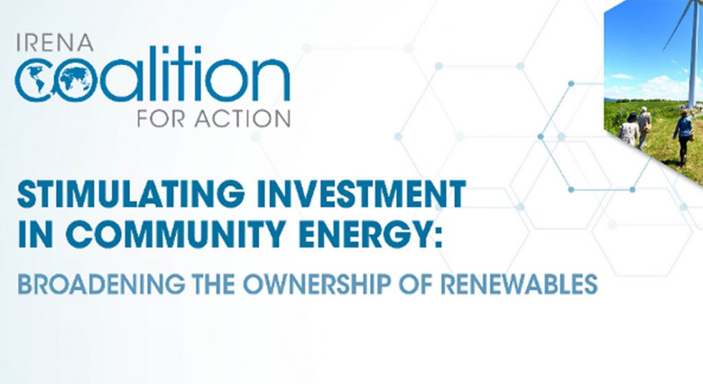 New Report on Stimulating Community Energy Investment
